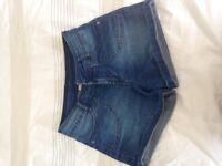 Girls denim shorts Age 11-12 yrs