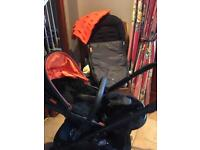 Icandy DC pushchair, pram and extras