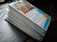 34 trial packs of HP photo paper