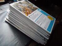 34 trial packs of HP photo paper