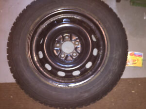 215/60/16 winter tires on steel rims - set of 4