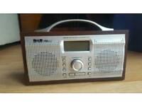 DAB radio with alarm clock