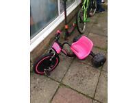 Elektra hog trike bike pink