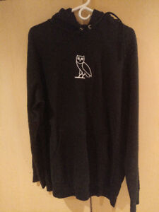 OVO Sample Hoodie XL, White Owl Embroidered Logo