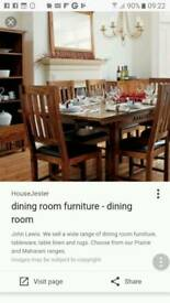 John lewis prarire table and chairs