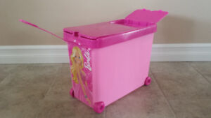 Barbie rolling container