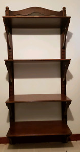 custom made solid mahogany wood shelves