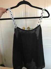 Daisy chain strap cami top
