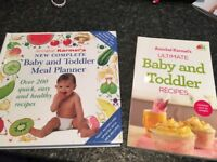 Baby and toddler meal planner and recipes books
