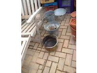 Metal Scuttle / buckets / pots/umbrella stand £8 each