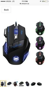 LED Optical 7200 DPI 7 Button USB Wired Gaming Mouse