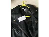 unisex motorbike style leather jacket 38/40