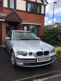 BMW 316 - 3 door - 03 plate 1.8i - 12m MOT 87k