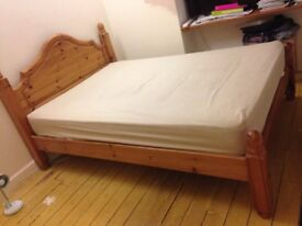 DOUBLE PINE BED solid construction