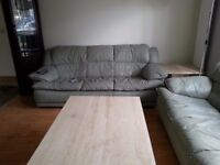 Sofa in leather suite -two off in very good condition