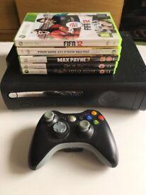 Xbox 360, 1 controller, 5 games