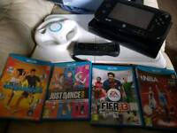 Black WII U 32gb with 4 games and accessories