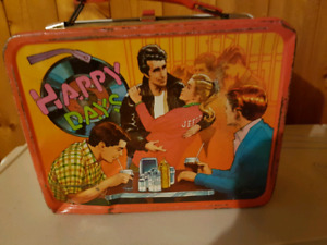 1970 Happy Days metal lunch box.