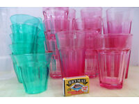 29 PINK & GREEN PARTY DRINKS GLASSES & 2 JUGS