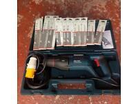 Bosch GSA900E 110v recip saw and various blades