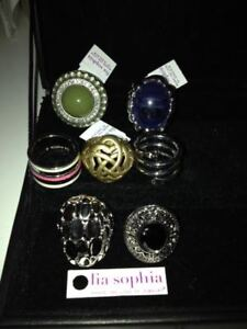 7 Lia Sophia Rings - Consultant Samples - ALL SIZE 6