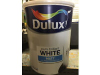 5 litres Dulux Pure Brilliant White Matt Emulsion. Never been opened. Not required so up for sale.