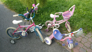 Kids Bikes, scooters and tricycle