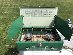 Coleman propane stove and grill pan
