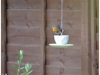 Vintage Cup and Saucer Hanging Bird Feeder(s).