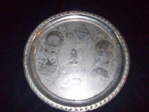 Silver serving Plate-- Queen Victoria