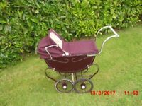 Vintage Silver Cross 1950's Dolls' Pram