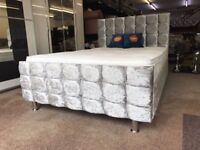 NEW Crushed Velvet Bed WITH FREE MATTRESS