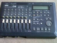 Korg D8 digital hard disk 8 track multi-track recorder