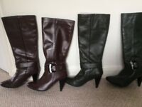 Size 5 real leather boots x2 pairs
