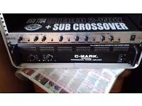 c-mark mr2350 professional power amplifier