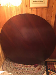 """Solid, Round Cherry 42"""" Diameter with 3, 12"""" Leaves"""