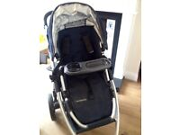 Super Light Indigo Blue Uppababy Pram and Carry Cot (bought October 2013) I can deliver to nearby