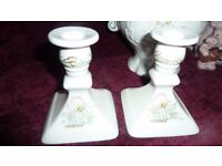 Two vintage, mint Royal Winton Candle Sticks
