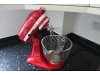 KitchenAid Artisan with glass bowl, 5KSM156, with spiralizer, almost new