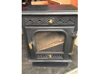 Wood burning stove multifuel stove with vent kit and flue pipes