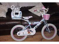"girls pets puppy bike 16"" avigo pedal bike"
