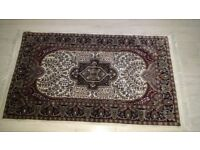 opened but almost new authentic rug dark blue never been stood on