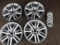 Removed from Audi A8 set of genuine AUDI alloy wheels