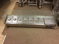 Stainless commercial salad topping display servery