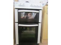 Bush electric cooker, double oven, ceramic, 50 cm wide