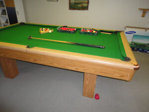 Professional slate pool table.
