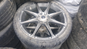 17 inch cr  racing rims with tires