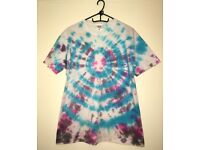 One of a kind, hand dyed, limited edition, tie dye t-shirt