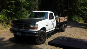 1997 f350 dually 4x4 powerstroke. Sell or trade for 5 ton diesel