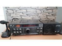 Yaesu FT 990 with Yaesu SP-6 Speaker and MD-100 Microphone